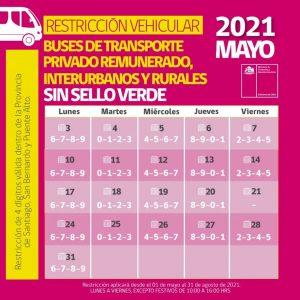 restricción vehicular buses